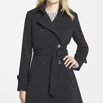 Women's Trina Turk 'Juliette' Double Breasted Skirted Trench Coat