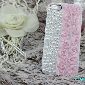 lace pearl iphone case, i phone 4 4s 5 case, cute iphone4 iphone4s 5 case,stylish plastic rubber cases cover, Artificial Swarovski Crystal