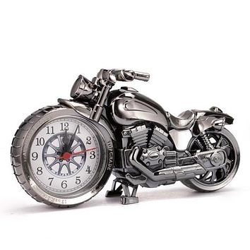 Motorcycle Alarm Clock Shape Creative Retro Gifts Upscale Furnishings Boutique Home Decorator  Sale