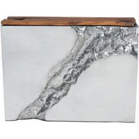 ZUO Modern Luxe Console Table Natural&Ss 100525 Living Coffee Table