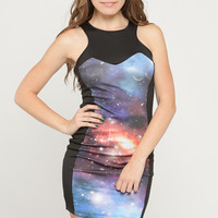 Galaxy Block Scuba Dress