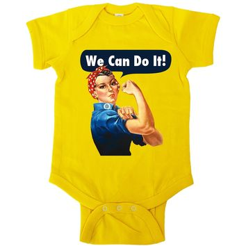 Rosie The Riveter -- Baby Onesuit