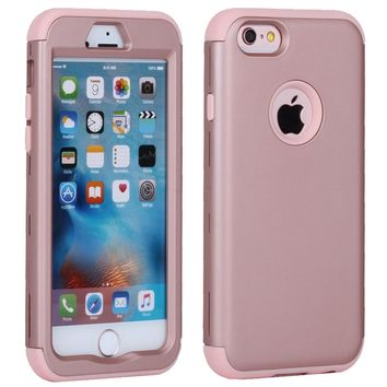 For iPhone 6 Case Silicone & Plastic Hard Cover iPhone 6 6S Plus Phone Case With Rubber TPU Coque For iPhone6 Plus 6 S