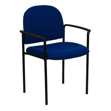 Comfortable Stackable Steel Side Chair with Arms