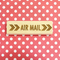 Air Mail retro rubber stamp