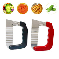 Vegetable Soap Wavy Cutter Stainless Steel Potato Chip Dough Carrot Crinkle Wavy Slicer