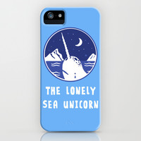 The Lonely Sea Unicorn iPhone & iPod Case by LookHUMAN