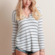 To The Rescue Striped Top By Chaser