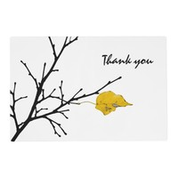 Yellow Lime Tree Leaf Placemat
