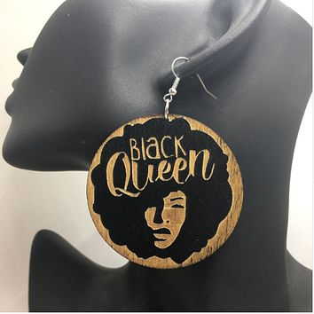 Black Queen Earrings | Natural hair earrings | Afrocentric earrings | jewelry | accessories