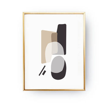Brown Beige Texture, Minimalist Poster, Textured Watercolor, Abstract Wall Art, Modern Shapes, Simple Decor, Geometric Textures, Pastel Art