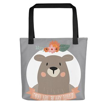 You Are Beary Loved Tote Bag
