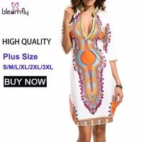 3XL Plus Size African Clothes Dashiki Dress