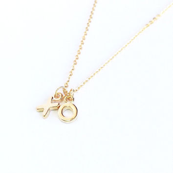 XO Necklace, Love Necklace, Love Jewelry, xo Jewelry, Hugs and Kisses, xoxo