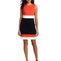 Vince Camuto Women`s Sleeveless Colorblock Dress