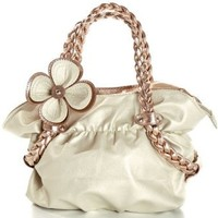 MG Collection Candice Metallic Weaved Handle Hobo Handbag, Gold, One Size