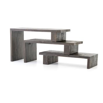 HARRIS NESTING CONSOLE TABLE - BLACK PEROBA