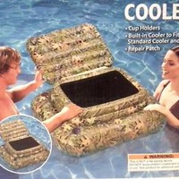 Mossy Oak Obession Floating Pool  Cooler Holder 39 X 33 X 18.5 Camo PVC New