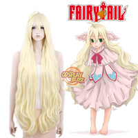 Fairy Tail Mavis Vermilion Long Curly Light Blonde Anime Cosplay Wig PL438 - CosplayBuzz