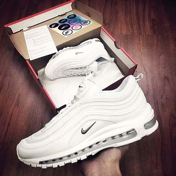 NIKE AIR MAX 97 Trending Fashion Casual Running Sports Shoes White G
