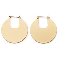 Cutout Disc Hoop Earrings