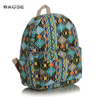Vintage Fashion Casual Stylish Style Canvas Backpack = 4887834436