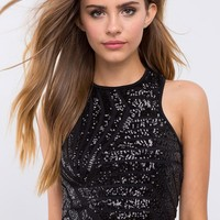 Night Lights Sequin Crop Top
