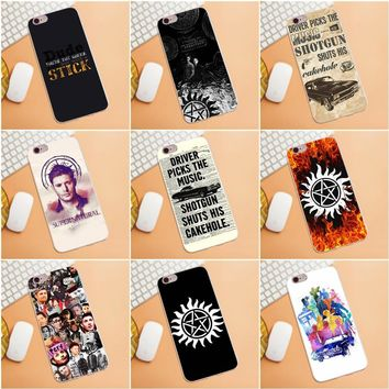 Supernatural Impala Old Glossy phone case For iPhone 4 4S 5 5C SE 6 6S 7 8 Plus X HTC Desire 628 630 816 820 One A9 M7 M8 M9 M10