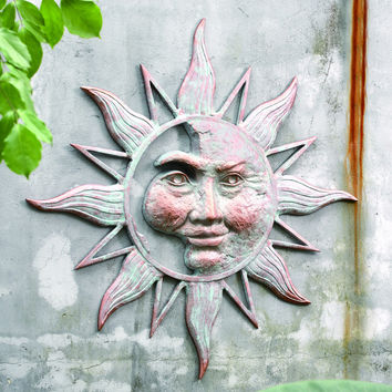 SPI Outdoor Collection Half Face Sun Wall Plaque