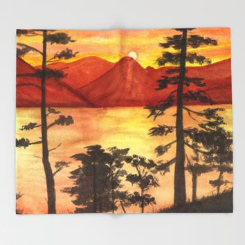 Sunset Throw Blanket by Savousepate