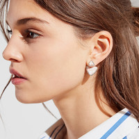 Triangle Stone Front/Back Earring | Urban Outfitters