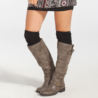 FULL TILT Solid Basic Womens Knee High Socks 248601100 | Socks