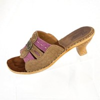 Tsonga Leather Sandals EU 37 US 6 Made in South Africa Purple and Brown