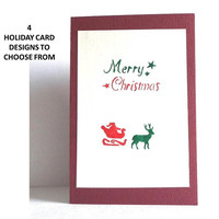 Christmas Card, Blank Card, Merry Christmas Card, Holiday Cards, Traditional Holiday Cards, Vintage Style, Greeting Cards, Holiday Greeting