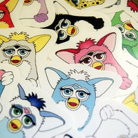 Furby sticker pack by PKPaperKitty on Etsy