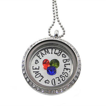 Floating Locket / Mommy Necklace / Memory Locket
