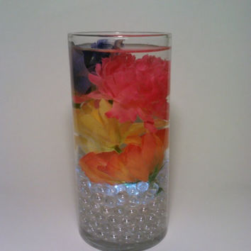 Easter Spring Wedding Glass Vase Centerpiece by DeerwoodCreekGifts