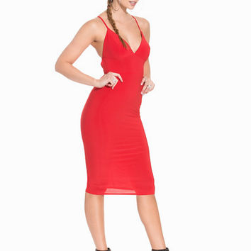 Twist BackPlunge Dress, NLY One