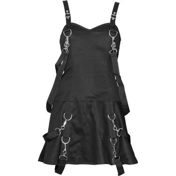 Tempest - gothic bondage dress for women, by Aderlass Clothing