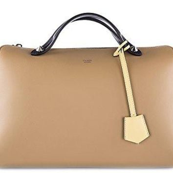 Fendi women's leather handbag shopping bag purse bauletto boston by the way larg