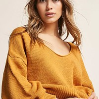 Oversized Purl Knit Top