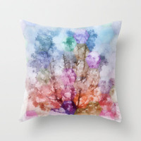 Independent tree  Throw Pillow by Laura Santeler