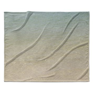 "Catherine McDonald ""Ombre Sea"" Beach Photography Fleece Throw Blanket"