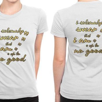 Harry Potter Quote Solemnly Swear Up To No Good B 2 Sided Womens T Shirt
