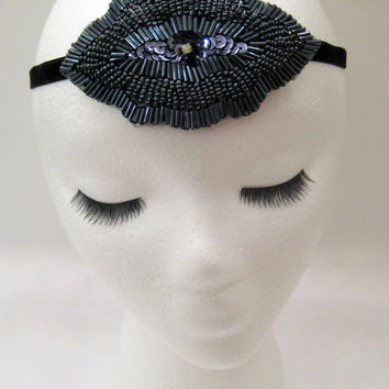 The Joan - Great Gatsby headpiece, flapper hairband, 1920s party, Prohibition party, Speakeasy bar, Downton fascinator, sequin headband