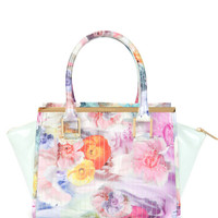 Floral tote bag - Pale Green | Bags | Ted Baker UK