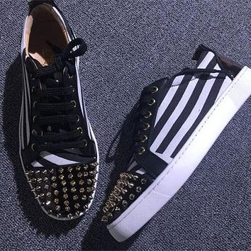 Cl Christian Louboutin Low Style #2057 Sneakers Fashion Shoes