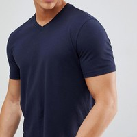 United Colors of Benetton V Neck T-Shirt at asos.com