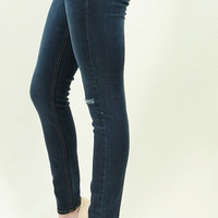 Knee distressed slim skinny premium ankle jeans by Just BLACK Label