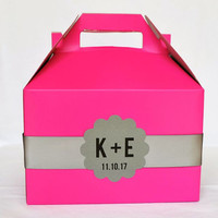 Hot Pink Out of Town Hotel Welcome Boxes